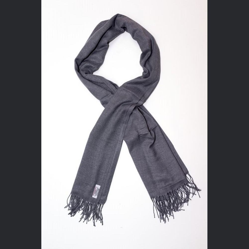 Pashmina no: 10 gray, scarf / shawl , cashmere and silk