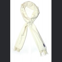 Pashmina no : 36 ivory , scarf / shawl , cashmere and silk