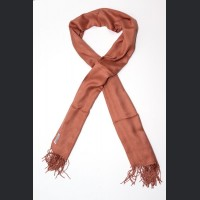 Pashmina no : 39 peach, scarf / shawl , cashmere and silk